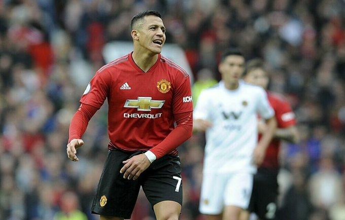 Sanchez gây thất vọng lớn ở Man Utd. Ảnh: AP.