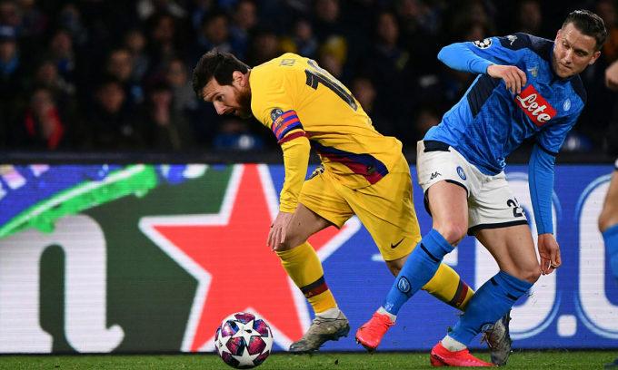 Messi không ghi bàn ở lượt đi. Ảnh: Lapresse.