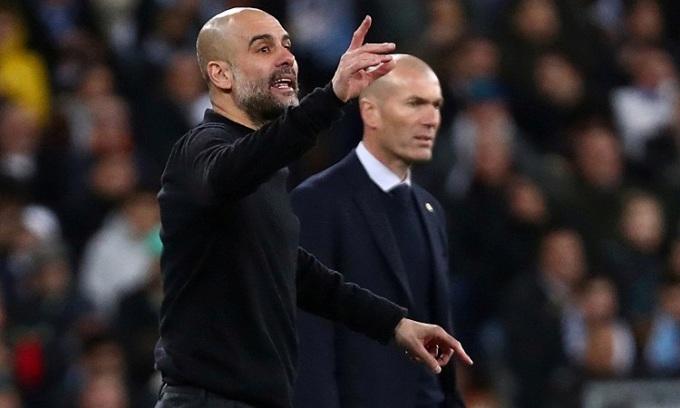 Guardiola lo ngại Man City mắc sai lầm trước một đối thủ già dơ như Real. Ảnh: Reuters.