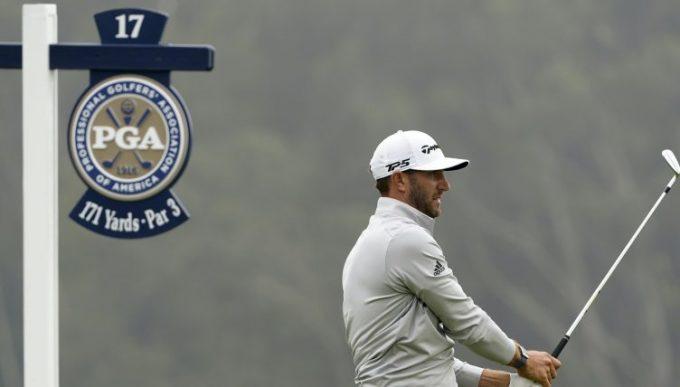 Johnson thi đấu ở vòng 3 PGA Championship 2020 hôm qua 8/8.