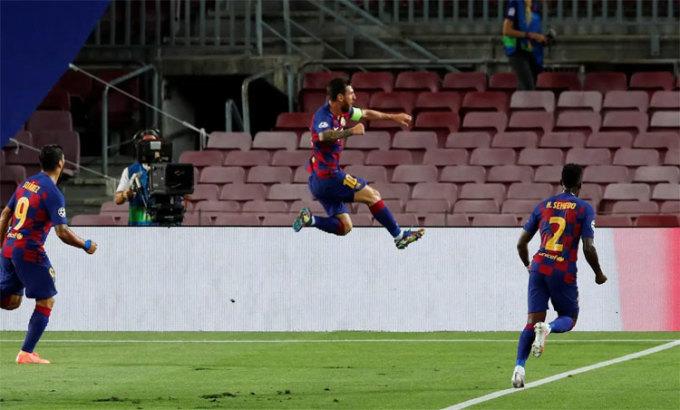 Barca thắng ngay từ hiệp đầu. Ảnh: Reuters.