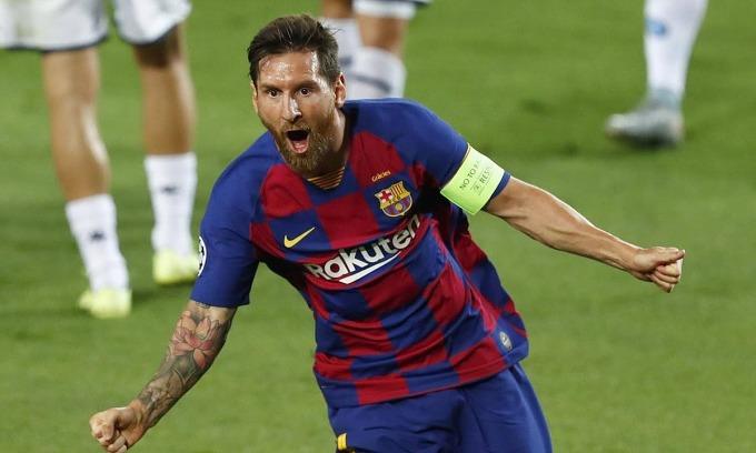 Messi chơi nổi bật trong chiến thắng của Barca. Ảnh: AP.