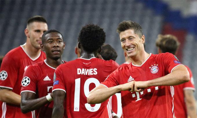 Bayern toàn thắng tám trận tại Champions League mùa này, ghi 31 bàn. Ảnh: FCB.de.