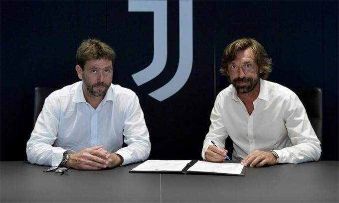 Agnelli xem Pirlo là lựa chọn tiết kiệm và đáng tin cậy. Ảnh: Juventus FC.