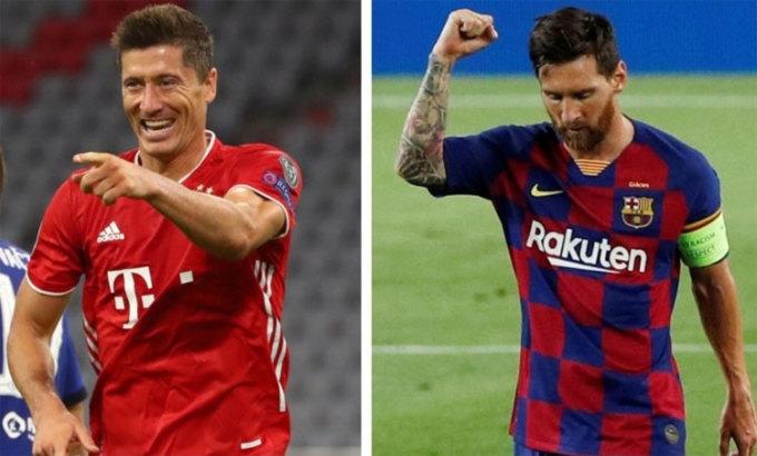 Lewandowski phiên bản hay nhất chuẩn bị đối đầu Messi phiên bản tệ nhất. Ảnh: Reuters.