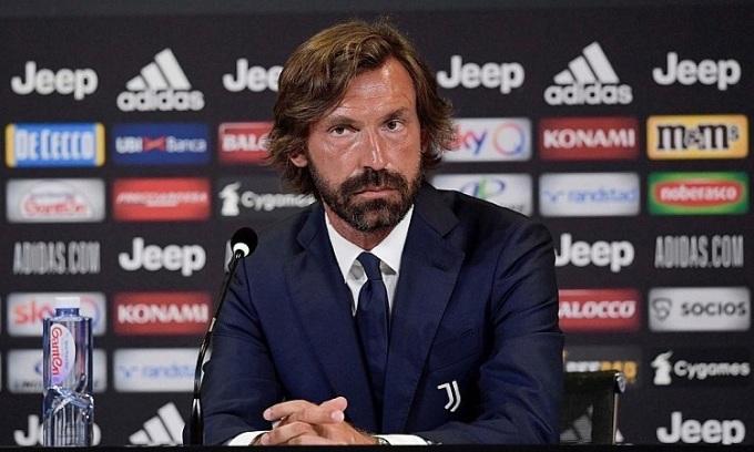Pirlo dẫn dắt Juventus khi chưa có kinh nghiệm cầm quân. Ảnh: Sport Mediaset.
