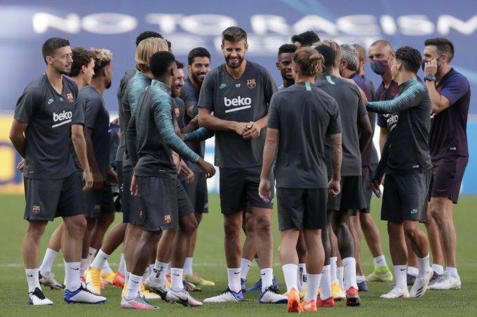 Barca có gần như đầy đủ lực lượng trong trận gặp Bayern đêm nay. Ảnh: AP.
