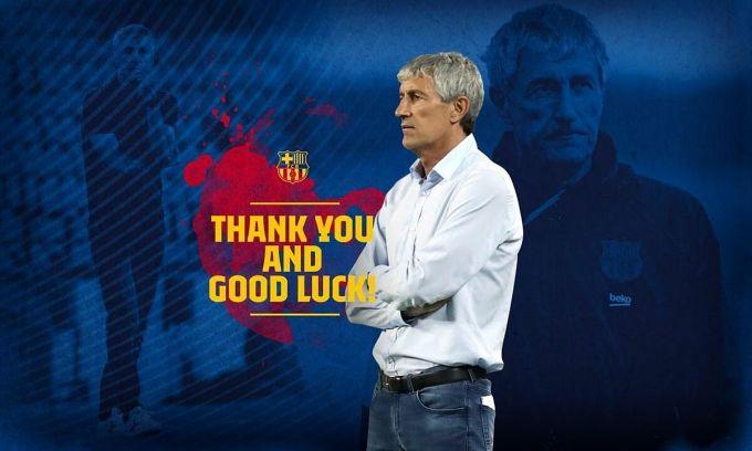 Barca cảm ơn và chúc Setien may mắn. Ảnh: FCB.