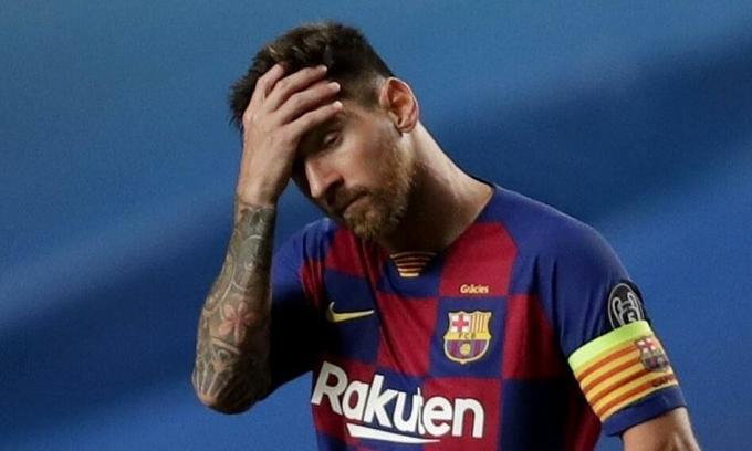 Messi có thể muốn ra đi, nhưng cũng có thể muốn gây áp lực lên Bartomeu. Ảnh: EPA.