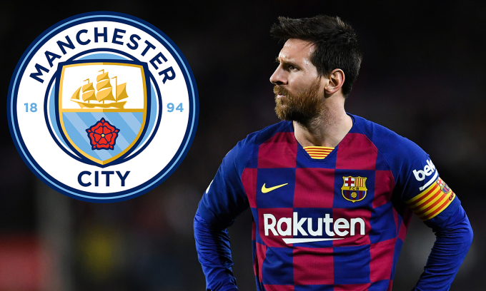 Vừa thoát án cấm dự Cup châu Âu từ UEFA, Man City sẵn sàng lách luật để trải thảm đón Messi. Ảnh: Goal