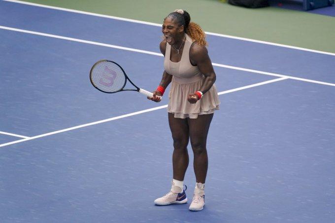 Serena quyết tâm vô địch sau hai năm liên tiếp thất bại ở chung kết Mỹ Mở rộng. Ảnh: AP.