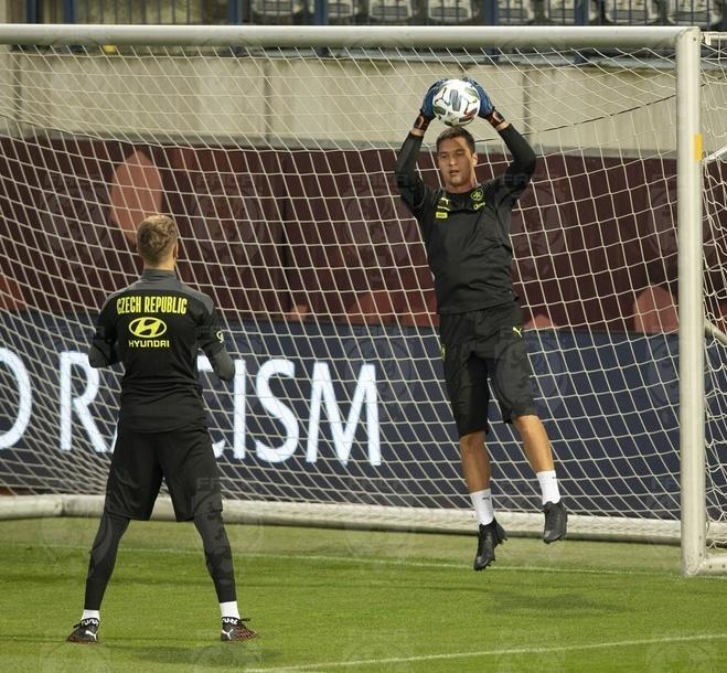 Filip Nguyễn tập luyện cùng tuyển Czech trước trận đấu với Scotland ngày 8/9.