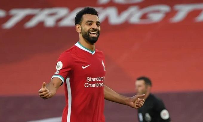 Salah ghi hat-trick ngay trận ra quân ở mùa giải mới. Ảnh: Reuters.