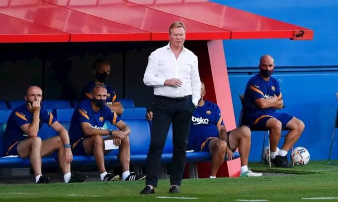 Koeman muốn Barca cải thiện khả năng phòng ngự ở mùa tới. Ảnh: AFP.