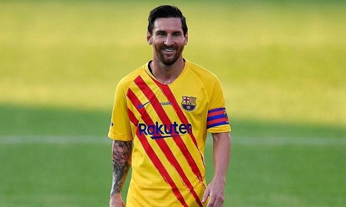 Messi tiếp tục là cầu thủ hưởng lương cao nhất thế giới sau khi ở lại Barca. Ảnh: AFP.