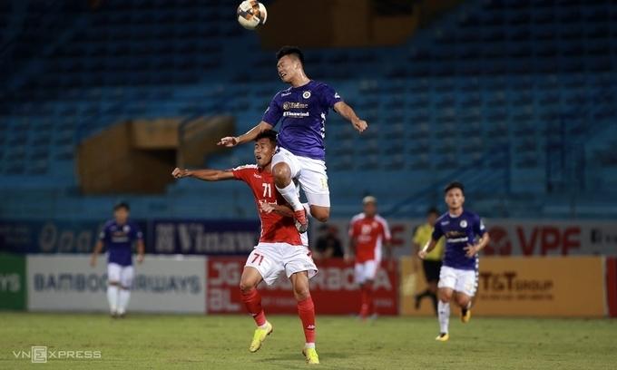 Hà Nội chơi trên cơ TP HCM và xứng đáng thắng 5-1 ở bán kết Cup Quốc gia hôm 16/9. Ảnh: Lâm Thỏa
