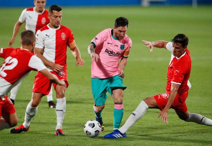 Messi vẫn chơi rất hiệu quả trong màu áo Barca. Ảnh: Reuters.