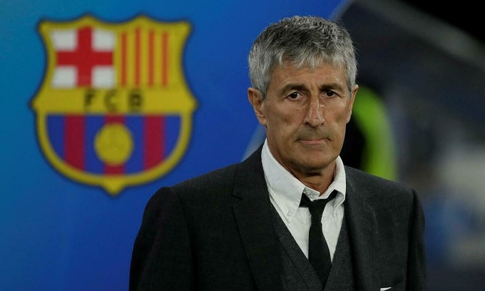 Setien không chấp nhận cách đối xử của Barca. Ảnh: Reuters
