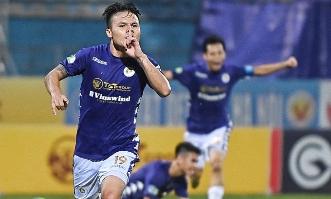 Quang Hải đã ghi bốn bàn và kiến tạo ba lần trong ba trận cuối ở Cup quốc gia. Ảnh: Giang Huy.