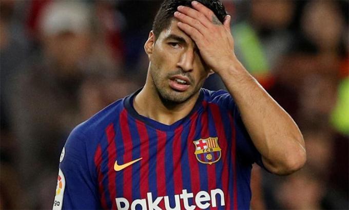 Suarez ghi được 198 bàn cho Barca, và là cầu thủ lập công nhiều thứ ba trong lịch sử đội bóng. Ảnh: Reuters.