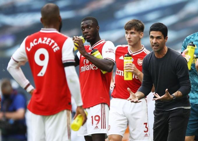 Arteta có 20 chiến thắng, sáu trận hòa và chỉ thua sáu trận qua 32 trận đầu tiên dẫn dắt Arsenal. Ảnh: Reuters