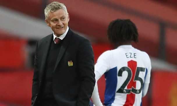 Solskjaer thấy may mắn với chiến thắng của Man Utd trước Brighton. Ảnh: Reuters
