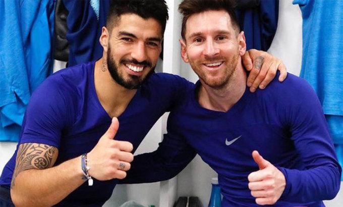 Suarez và Messi không chỉ là đồng đội, mà còn là những người bạn thân thiết ngoài đời. Ảnh: FCB.