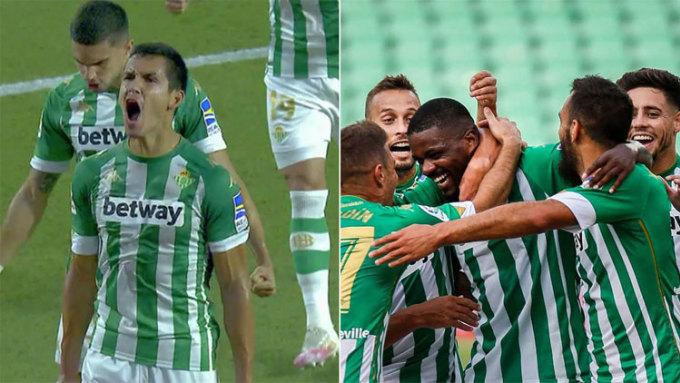 Betis ghi hai bàn trong ba phút giữa hiệp một. Ảnh: Marca.