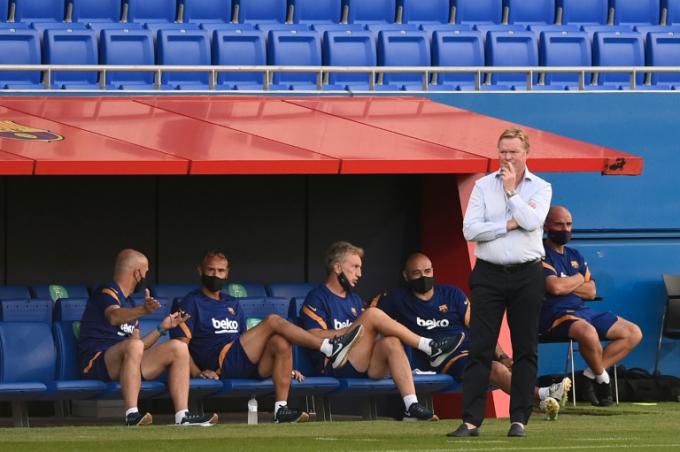 Koeman đang từng bước áp đặt triết lý bóng đá mới của ông cho Barca. Ảnh: FCB