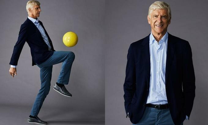 HLV Wenger trên báo Anh The Times hôm 2/10. Ảnh: Roberto Frankenberg