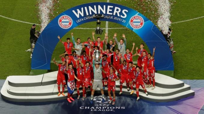 Mùa giải 2019-2020 vẫn kết thúc như lịch trình, với chức vô địch Champions League của Bayern. Ảnh: AP