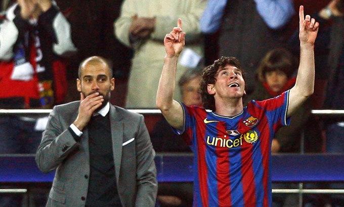 Trong bảy mùa dẫn dắt Bayern và Man City, Guardiola chưa thể lập lại thành công từng có với Barca và Messi. Ảnh: Reuters.