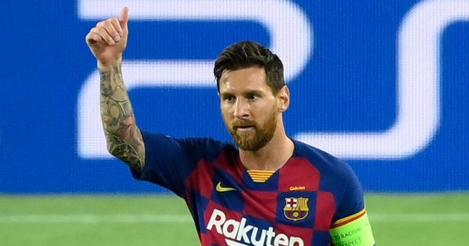 Dù góp mặt trong trận thua Bayern 2-8, Messi vẫn được đánh giá cao tại Champions League mùa trước. Ảnh: UEFA.