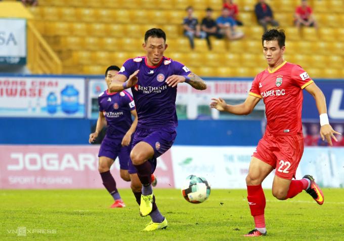 Sài Gòn FC có trận đấu tệ, lần thứ hai ở mùa giải năm nay để thủng lưới ba bàn. Ảnh: Anh Đức