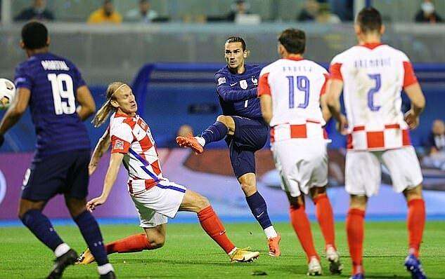 Griezmann tự tin hơn khi trở lại đội tuyển, nơi anh được trao quyền hoạt động rộng. Ảnh: Reuters.