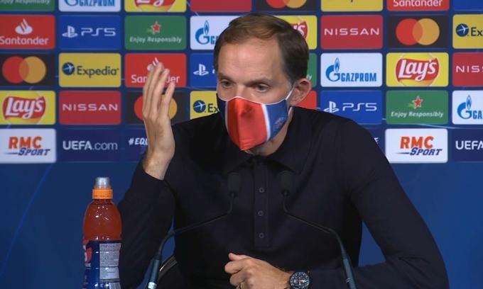 Tuchel đưa PSG vào chung kết Champions League mùa trước, nhưng đang mâu thuẫn với lãnh đạo. Ảnh: BFMTV