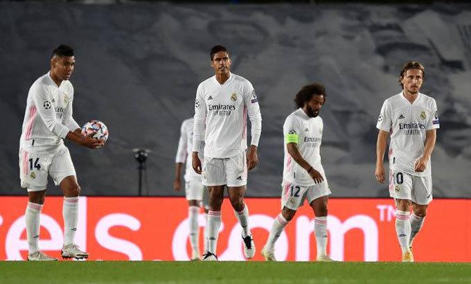 Real thua cả ba trận trên đấu trường châu Âu từ đầu năm 2020. Ảnh: Reuters.