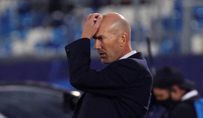 Zidane để thua hai trận liên tục trên sân nhà. Ảnh: Reuters.