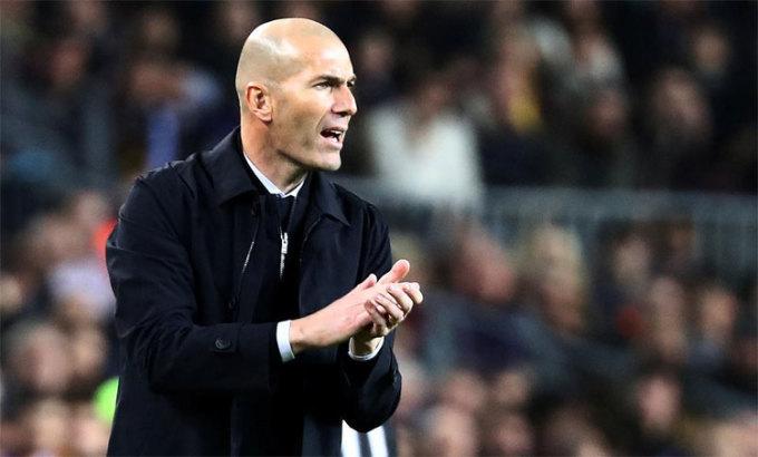 Zidane có số trận thắng Barca nhiều gấp đôi số trận thua. Ảnh: Reuters.
