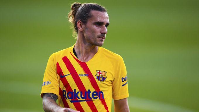 Lần gần nhất Griezmann ghi bàn cho Barca là ở trận thắng Elche tại cup giao hữu Joan Gamper hôm 20/9. Ảnh: Eurosport.