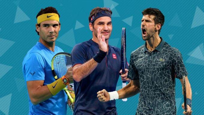 Federer vô địch Grand Slam lần đầu cách đây đã 16 năm, Nadal là 15 năm và Djokovic là 12 năm. Ảnh: ES.