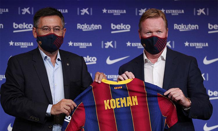 Koeman bình thản khi Chủ tịch Barca từ chức