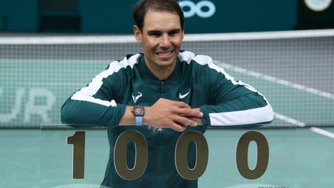 Nadal còn nhiều mục tiêu lớn sau cột mốc 1000 chiến thắng. Ảnh: Sky.