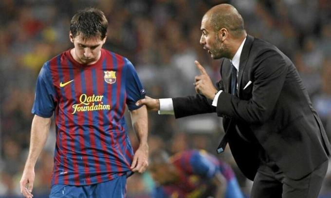 Guardiola có thể tái hợp Messi từ hè 2021, sau chín năm xa cách. Ảnh: Marca