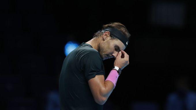 Nadal thêm một lần lỡ hẹn với danh hiệu ATP Finals. Ảnh: Whio.
