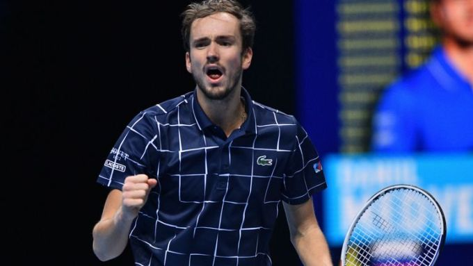 Medvedev lần đầu vào chung kết ATP Finals. Ảnh: Sky.