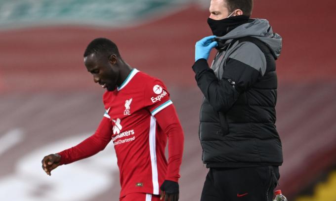 Keita là cầu thủ Liverpool mới nhất gia nhập danh sách thương binh. Ảnh: LFC