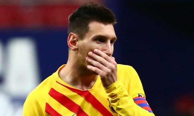 Messi được chấm 7,4 điểm, cao thứ hai trận gặp Atletico hôm 21/11, chỉ sau người ghi bàn duy nhất Carrasco. Ảnh: Reuters
