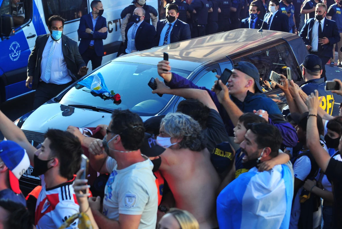Hành trình về nơi an táng của Maradona