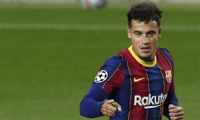 Coutinho vẫn chưa hết lận đận ở Barca. Ảnh: EFE